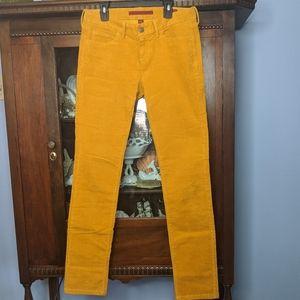 Mustard Corduroy Skinny pants Banana Republic